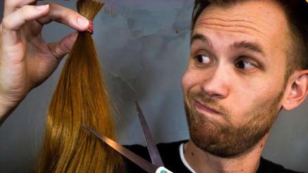 老外用头发做成绳子来测试韧性,汽车启动后,瞬间打破你的认知