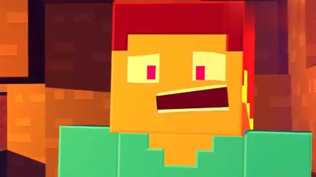 我的世界动画:史蒂夫的矿洞惊魂7秒钟!