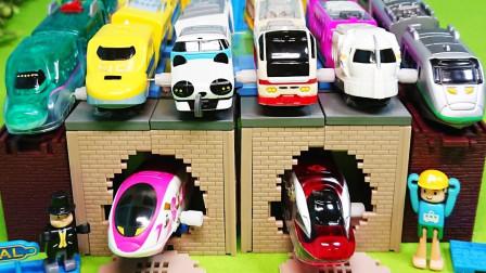 超炫酷玩具火车集合大比拼,哪一辆最厉害呢?益智早教玩具工程车
