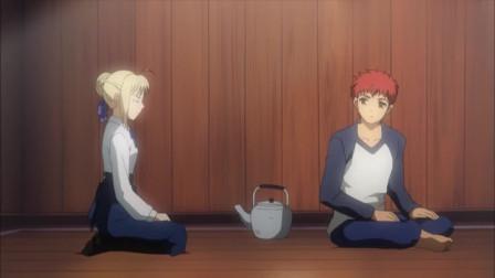 Fate:士郎没有逼问Saber的意思?Saber:你是用Master的命令吗?
