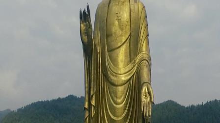 河南鲁山中原大佛,耗资12亿打造,里面有108公斤黄金,世界第一高佛