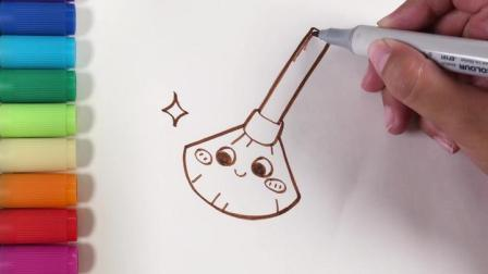 儿歌多多儿童简笔画 五一劳动节小宝贝们来动手画工具帮妈妈打扫