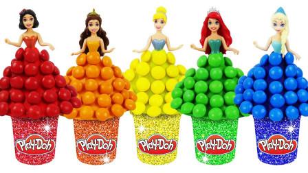 冰雪奇缘玩具迪士尼手工:用彩虹糖就能制作艾莎公主裙子,究竟如何制作?
