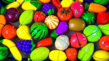 颜色启蒙早教:趣味过家家玩具,教会宝宝认识各种蔬菜水果!