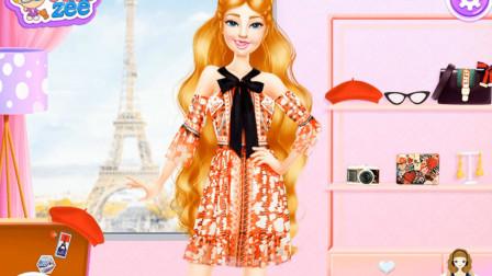 跟着芭比去旅行第一站时尚巴黎芭比变成时尚达人