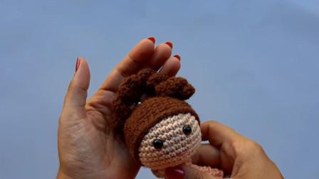这手工,不服不行啊,毛线钩编的娃娃太美了图解视频