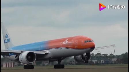 荷兰航空波音777-306ER橙色Pride Livery ph-bva,抵达史基浦机场-465