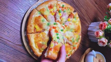 自制懒人披萨,做法简单,干净卫生,外酥里嫩,学会不用买了