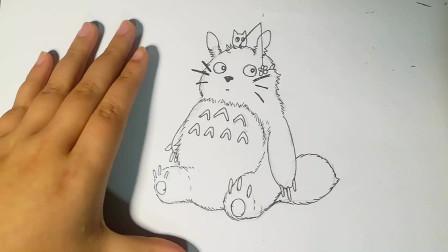 五一期间学画画,龙猫绘画教程,小朋友们快来学习吧