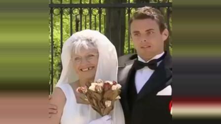 恶搞和八十岁老**拍婚纱照,一根木头做的车敢坐
