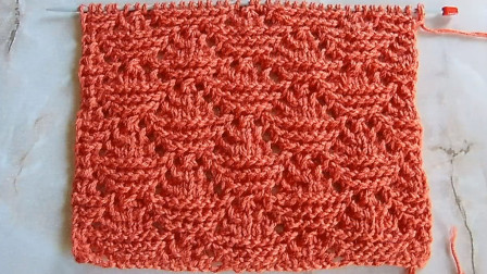 用简单的针法织出别致花样,一款镂空火焰针编织教程,织毛衣好看图解视频