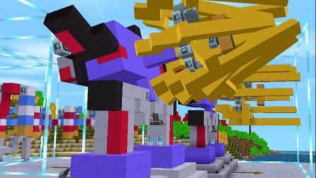 迷你世界:巨型惊破天加农炮教程,变形金刚威震天能量炮的升级版(4)
