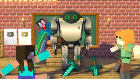 我的世界动画-爱丽克丝 vs 女Herobrine-MineCZ