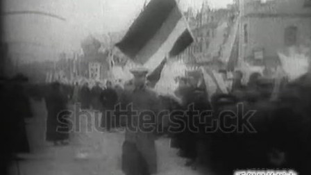 珍贵历史镜头 1919年五四运动中的爱国青年