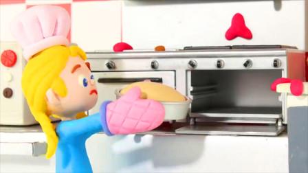 儿童动画: 小家伙做巧克力蛋糕,他们成功了吗?少儿动画搞笑视频