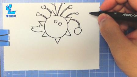 乐豆简笔画:大象艾德蒙梦想成为科学家,他制作了一张太阳神面具