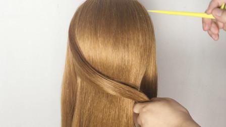 高贵优雅的日常盘发,步骤简单,更显女人味