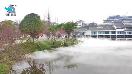 人造雾公园成为户外避暑胜地,来浣花溪,赏景中仙雾缥缈—锦胜雾森