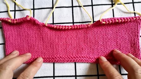 后片肩宽的编织方法,新手也能编织,适合编织各种款式的棒针毛衣图解视频