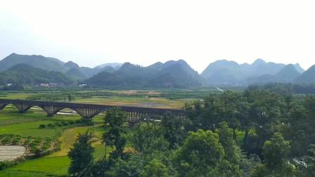 实拍到幸福源水库风景 ,这是贵广高铁恭城到阳朔路段,最美的山水田园风景之地!