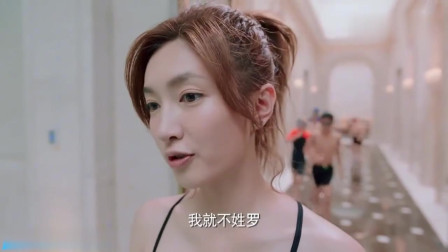 盘点江疏影惊艳瞬间,当你在泳池边遇到女神,你就是这眼神