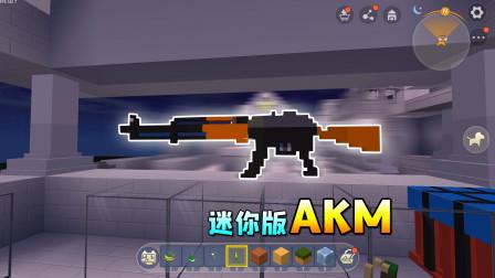 迷你世界版武器模型,有头盔、防弹衣,小乾觉得AKM模型做得最像
