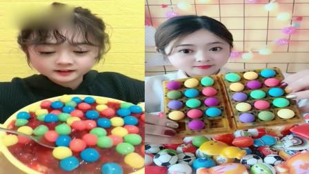 小姐姐直播吃:百香果配+巧克力豆七彩珠,一口下去超过瘾,是我向往的生活!