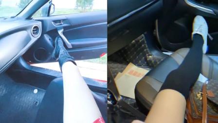 小姐姐们的腿可以有多长?超火的用腿关车门,你能做到么?