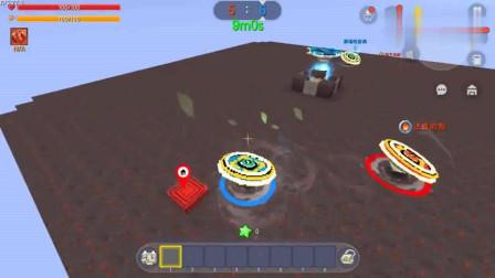 迷你世界:陀螺大作战,跟敌人2V2可是他们威力太猛了