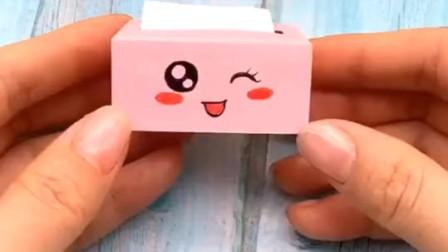 萌萌哒迷你抽纸盒,加上表情更可爱,赶紧回家折一个吧!