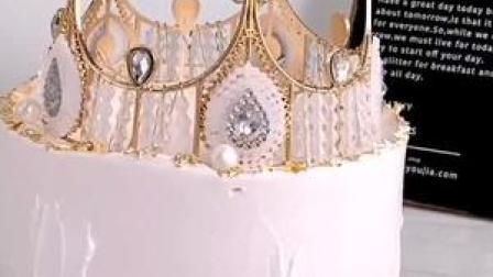 #经典皇冠蛋糕做不完的公主梦 打不败的女王心 #私房蛋糕 #创意蛋糕 #烘焙 #生日蛋糕
