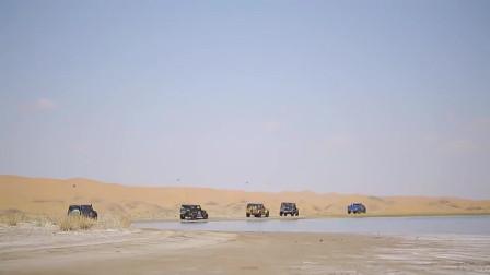 世界多美丽:腾格里沙漠的蓝色之眼天鹅湖,每年三月天鹅都会停留的地方!