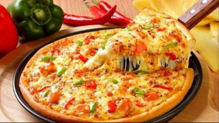 在家用平底锅也能做披萨,用料简单,做法简单,拉丝美味