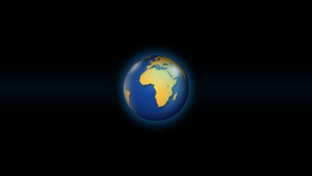 原创 高质感蓝色旋转地球