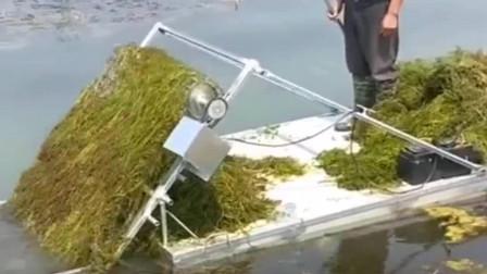 牛人发明:广西大哥的这个发明好啊,给河道清洁工减少很多工作量