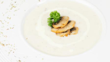 两分钟教你做出丝滑醇厚【奶油培根蘑菇汤 】