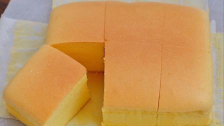 网红古早蛋糕,完美配方比例,不塌陷不开裂,细腻绵软,入口即化