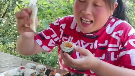 3种口味寿司练练手,高级的鱼子酱当蘸料,绝了!