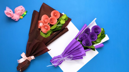 母亲节快到了,用四张纸做鲜花束,精致礼物简单又漂亮!