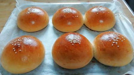 自制面包胚,学会了就不用买了,可以做各种口味的汉堡,非常好