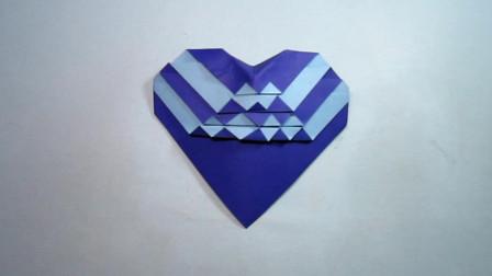手工折纸,一个有个性爱心的折法,简单超喜欢
