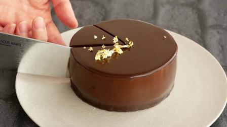 自制巧克力淋面蛋糕!