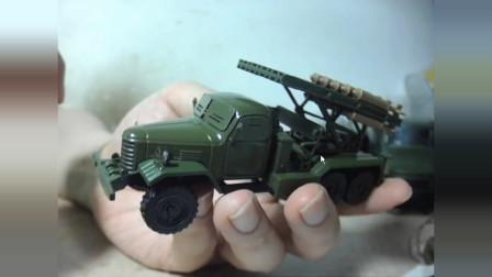 拓意 74式火箭布雷车 1:64 解放卡车玩具模型 闲谈
