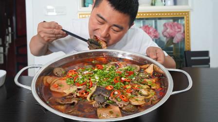 小厨劳动媳妇下厨,毛肚鲜虾配鸭肠四川冒菜一锅烫, 配米饭安逸