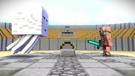 我的世界动画-怪物学院-竞技场挑战-iCraft