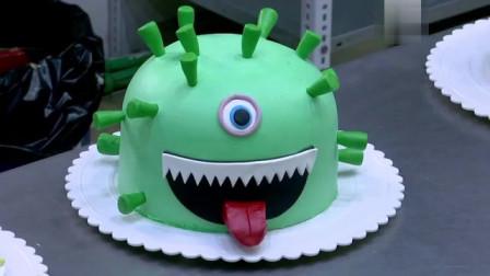 """伊拉克的蛋糕店生产可食用的""""病毒蛋糕"""",店主希望人们吃掉""""病毒"""",这样就能不被感染"""
