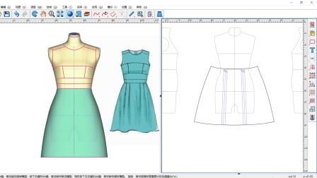图易软件 - 褶裥纸样的3D立裁设计