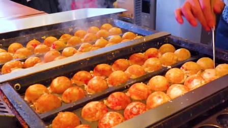 日本大阪的章鱼小丸子 的制作过程,我感觉我之前吃的都是面粉团子。光看就是一种享受!