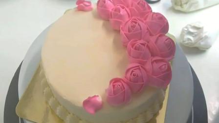 送你99朵玫瑰 妈妈生日 生日蛋糕花式裱花 美丽心情