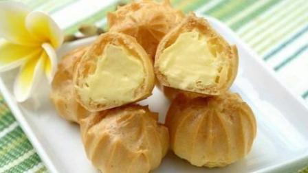 泡芙怎么做才好吃又酥,教你最简单的方法,香甜酥脆,出锅孩子抢着吃